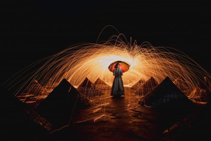 fotografía serie ideas lana de acero